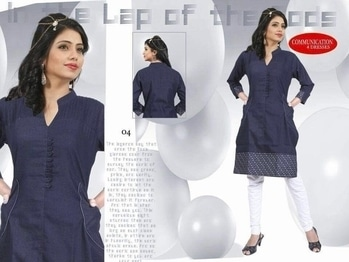 Dm 🔥Summer Special🔥  💥Stylish & Trendy Cotton Denim Kurtis💥  Size XL & XXL   Single Available @ 750/-Only😱 +$hipping extra   Book Fast Very Limited Stock   Ready To Dispatch🚀