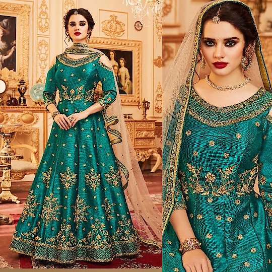 Cyan Melbourne Silk Anarkali Suit Product code - FCSS1382 Available at www.fashionclozet.com  Watsapp - +91 9930777376 Email -  info@fashionclozet.com Or DM for enquiries. #indianwear #indianfashion #indianwedding #instagram #adorable #beautiful #bollywood #makeup #mumbai #indianstyle #palazzo #punjabisuits #indowestern #bridalsarees #palazzopants #designerwear #saree #punjabiweddings  ##palazzoskirt #blogger #fashionblogger #weddingphotography #vancouverwedding #weddingphotographer #indianweddingbuzz #bridallehengas  #bridesmaids  #saree #sari
