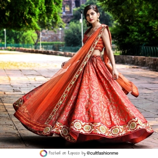 Red is back!  Take a cue from @cultfashionme and her red hot #LehengaLife. #SoRoposo #Roposo