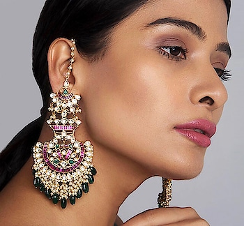 Handcrafted in #Kashmir, introducing #classic chandbaali #earrings by Paisley Pop featuring glass polki, shell pearls & green onyx: https://www.indiancultr.com/new-arrivals/classic-brilliance-by-paisley-pop?trk=hmpg-slider# #love #beautiful #India #IncredibleIndia #wow #amazing #artisan #instagood #want #neednow #inspiration #Indian #traditional #makeinindia #instalove #instalike #instadaily #photooftheday #webstagram #follow #repost #shop #online #designer #jewelry