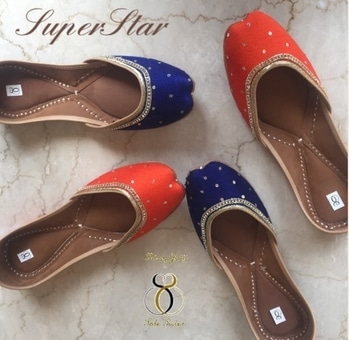 Presenting our SUPERSTAR collection- Very very classy pairs to own in several regal hues accentuated with sequins work. Wait for all the colours in this design to unfold in the coming days 😍😍.To order DM/Watsapp us at +91-98884-72794. Shipping worldwide 🌏. Cheap shipping rates ☺️#wedmegood #jutti #prettyshoes #handmade #bridesmaids #perfectgift #weddinginspiration #prettyfeet #weddingshoes #handmadeshoes #gold #newyear #2017🎄 #instashoes #instashop #instawedding #instalikes #instadiscount #indianbride #southasianbride #asianbride #mehndi #godcolour accentuated with sequins work in gold.To order DM/Watsapp us at +91-98884-72794. Shipping worldwide 🌏. It's also available in M A G E N T A colour. Cheap shipping rates ☺️#wedmegood #jutti #prettyshoes #handmade #bridesmaids #perfectgift #weddinginspiration #prettyfeet #mojris #weddingshoes #handmadeshoes #gold #kundan #instashoes #instashop #instawedding #instalikes #instadiscount #indianbride #southasianbride #asianbride #mehndi #god #khussa