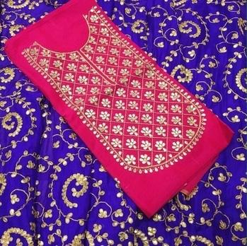Chanderi Silk Gotta Patti Suit Product code - FCDM162 Available at www.fashionclozet.com  Watsapp - +91 9930777376 Email -  info@fashionclozet.com Or DM for enquiries. #indianwear #indianfashion #indianwedding #instagram #adorable #beautiful #bollywood #makeup #mumbai #indianstyle #desi #punjabisuits #indowestern #bridalsarees #designersaree #designerwear #saree #punjabiweddings  ##desibeautyblog #blogger #fashionblogger #weddingphotography #vancouverwedding #weddingphotographer #indianweddingbuzz #bridallehengas  #bridesmaids  #saree #sari