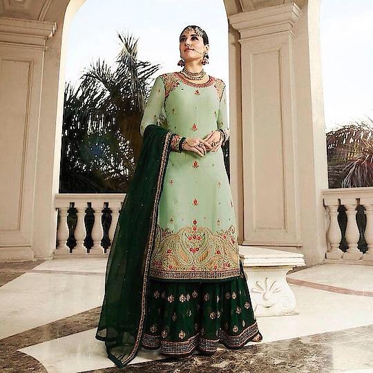 Kritika Karma Featuring Green Gharara Suit  Product code - FCSS1881 Available at www.fashionclozet.com  Watsapp - +91 9930777376 Email -  info@fashionclozet.com Or DM for enquiries  #indianwedding #desiwedding #bride #desibride #indianbride #kritikakarma #ghararasuit #lehenga #bridallehenga #lehengacholi #weddingfashion #bollywood #indianfashion #reception #bridesmaidsdress #bridalfashion #styleguide #weddingdress #weddingblog #bridalwear #weddingwear #desicouture #pakistanistyle #pakistaniwear #asianwear #pakistanibride #embroidery #pakistani #threadwork #southasianbride