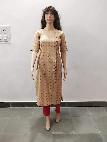 #kurti #straight #cotton #overlapfront #button #angsh #jaipur #casual #trending  Dm to order😊