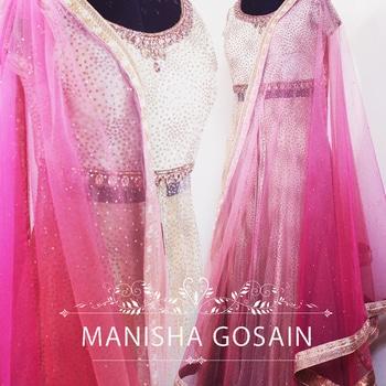Wedding Lehnga #weddingdress #designerwear #beigecolor #gold #pinkcolor #custommade #multicolor #newcollection2017 #lehngas #marriage #weddingseason