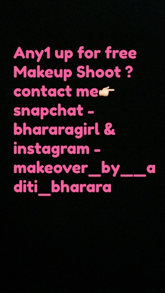 Any1 up for free Makeup  shoot ?