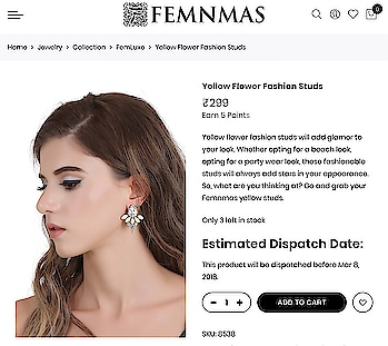 Yellow Earring By FemNmas Rs299/- Shop Now - https://goo.gl/Rz3UPe ————————————— #yellowearrings #yellowstuds #fashionearrings #designerearrings #fashionstuds #loveearrings #loveearrings❤️ #fashionearringsindia #sexyearrings