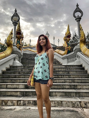 Sometimes it's all about what's behind me! Standing on the steps a beautiful Wat in the Krabi Town!  Please watch the first part of the Krabi Travel Vlog which covers this and much more!! Link - https://youtu.be/6iK7g3Rbbuo   #krabi #indiantravelblogger #indianfashionblogger #travelpost #travelvlog #ShailySingh #instatravel #travelblogger