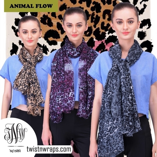 """Animal Flow"" Shop scarves with #twistnwraps #animalprint #summerscarves #scarfmakesthedifference #scarflove #scarfstyle #fashiongram #fashiononline #shopnow #onlineshopping #stylistdiaries #sale #discounts #limtededition #animalflow"