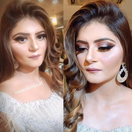 Soft engagement makeup at Meenakshiduttmakeoversdelhi #meenakshidutt #meenakshiduttmakeoversdelhi #makeup and hairstyling #makeupacademymakeupschool #bridalmakeupartist #hairandmakeupstudio
