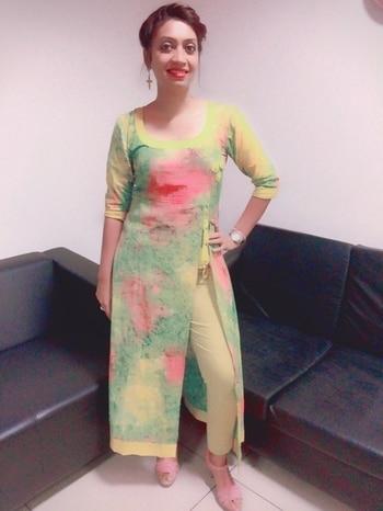 #lookoftheday #kurtilook #yellowluv #brightcolors #officewear #summer-style  #summers