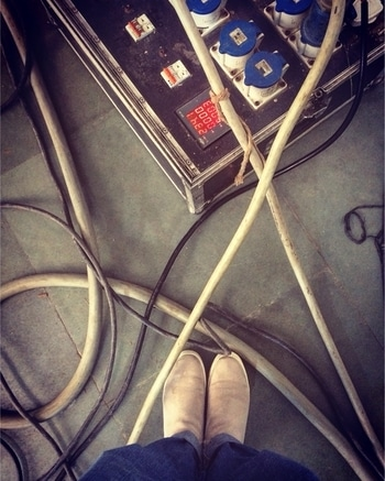 Shoot chaos!! Spending time with my better half, while he goes around doing his job (and I loiter 😉) #wires  #shoesoftheday #shoes #boots  #shootmode #work #mumbai #dop #lookdown #abstractart #righthererightnow #vellagiri #mycity #lifestyleblogger #bloggerlife #boyfriendjeans #ootd #casualstyle #womensfashion #personalstyle #styleblogger #roposo-style #roposogal #roposoblogger #soroposoblog #soroposostylefiles #soroposotalks