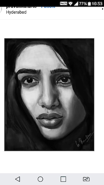 #roposo-creative #roposo-creativity #digitalpainting #art #paintings #samantha #samantharuthprabhu #samanthaakkineni
