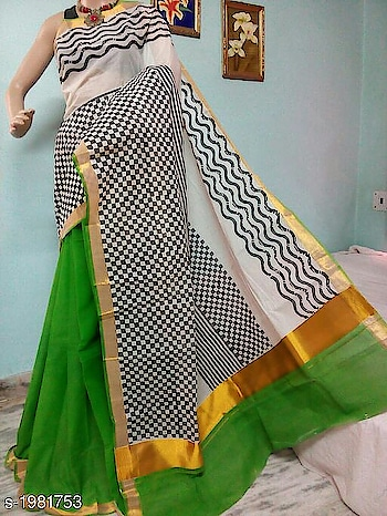Ethnic Women's #Kerala #Cotton Sarees   Fabric: #Saree - Cotton, #blouse  - Cotton   Size : Saree Length - 5.5 Mtr, Blouse Length - 0.80 Mtr  Work: Printed & Zari Border Work   designs are available  Dm for price  #roposo-daily  #followmeonroposo #followme #ethnic-wear #designer-saree #indianethnicwear #indianethnic