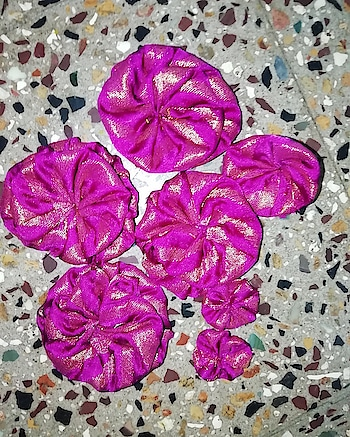 Fabric flowers!!  #fabrics #fabricflowers #DIY #handmadeproducts #roposoblogger #instablogger