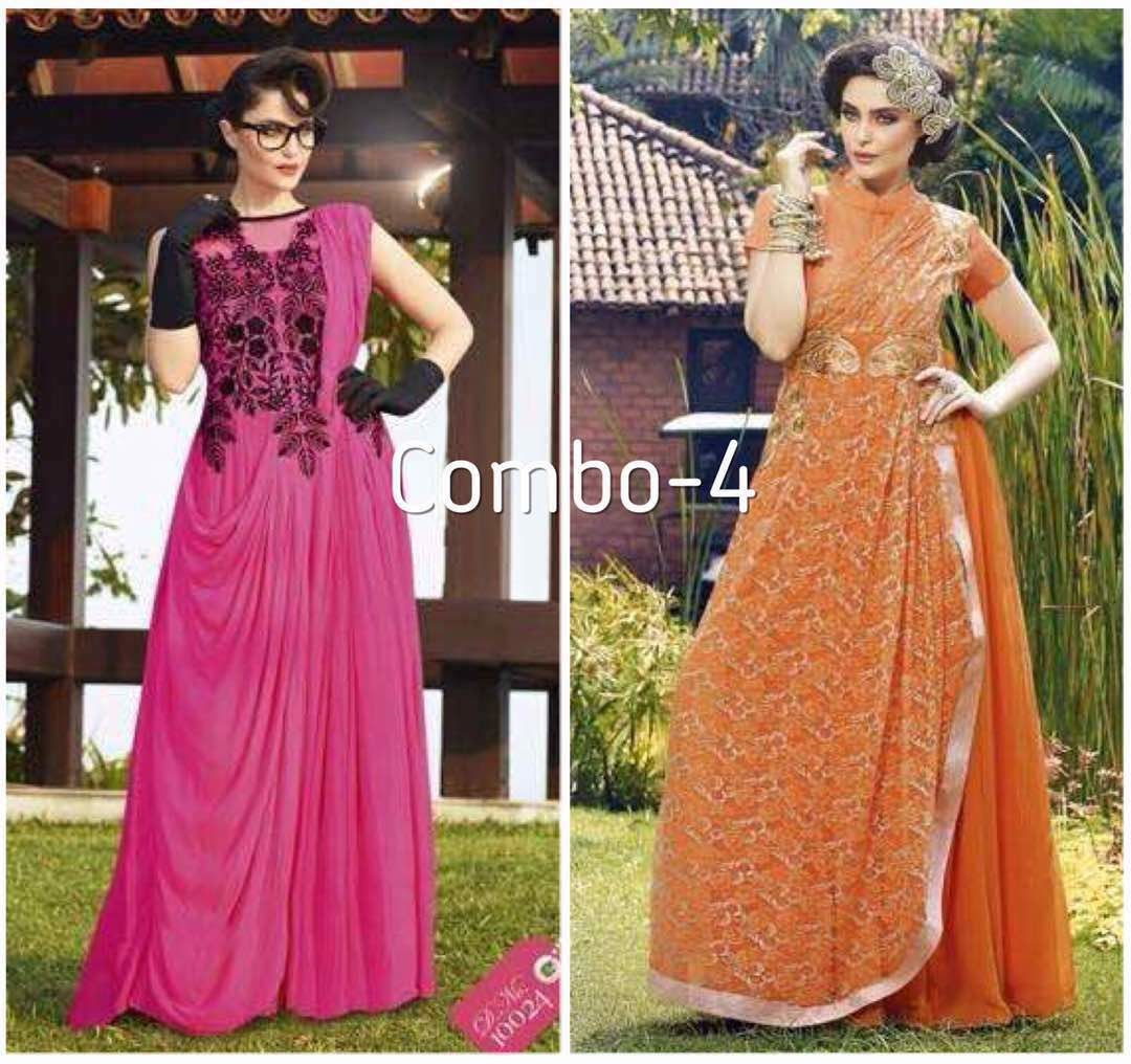 combo offer hurry up guyz  price - #1700 (u cn choose diffrent design wth diffrent combo) #gowns