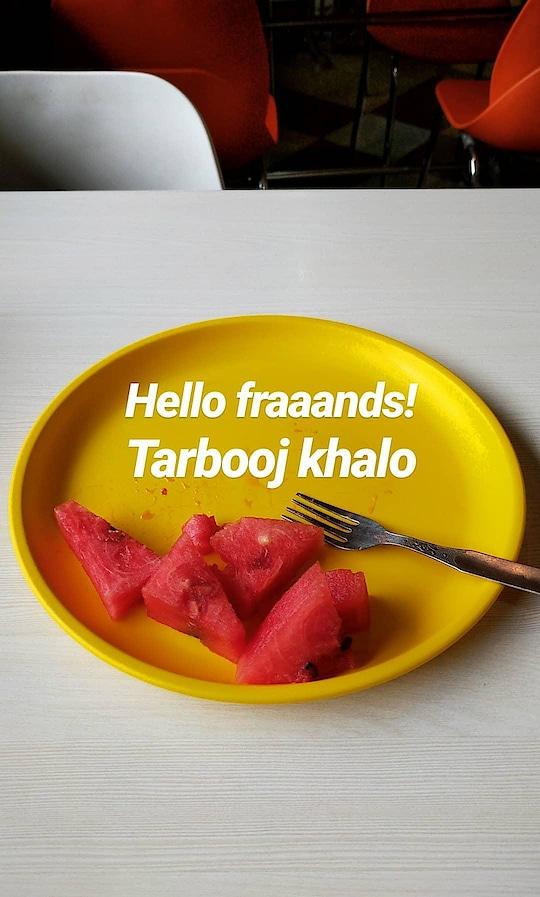 Tarbooj khalo friends! #roposo