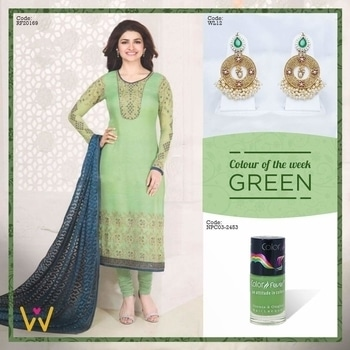 Feel gorgeous in green at the next Mehndi ceremony you plan to attend!   Get shopping NOW at WedLista.com!  #WedLista #FashionForWeddings