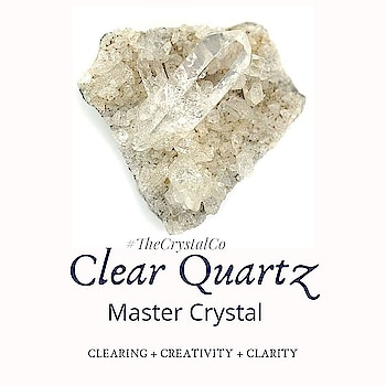 Clear Quartz (Clearing + Creativity + Clarity) One Of The Master Crystals; this is the most popular and versatile healing stone of all the crystals. *Clear Quartz resonates strongly within the higher chakras and is excellent to aid spiritual growth. *It is known as the stone of power and amplifies any energy or intention. *Clear Quartz protects against negativity, attunes to your higher self, and relieves pain. * It is extremely soothing and cleansing and has positive benefits towards psychic and physical conditions alike.   Order one of your own @tanveey #thecrystalco  Clear Quartz Crystal Healing Properties: 1. Clear Quartz encourages clarity of thought and purpose to one's heart and mind.  2. Promotes Clarity of mind and aids in Creativity 3. It is also said to relieve pain if placed on the area of discomfort  4. Quartz crystals are said to stimulate the immune system and help with physical energy and resiliency in the face of sickness. 5. Quartz has also been used to treat headaches, migraines, and vertigo. 6.  It also improves general energy for people suffering from lethargy – which also makes it a positive contributor to weight loss 7. Clear Quartz helps you in focus on the exact facets of your life that you want to change or improve. #crystal #crystalhealing #energy #concentration #clarity #purify #positivity #positivevibes #psychic #tanveeykapur #thecrystalco