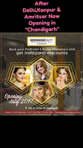 #meenakshiduttmakeovers #salon #makeup #bestmakeupartist #chandigarh #openingsoon #meenakshidutt #umeshdutt #Hi! you can call us between 11.30am to 7pm for details, we are at Club Road, Punjabi Bagh and Shivalik main road, near Panchsheel Park South Delhi call at : 9560704164 ,08826963239 or 01147563972 ,01147563973, 01141755112, 01141755111