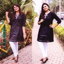 Who says black is not a colour for summers? 🙆🏻🙈🖤 Wearing this superb comfy A-line kurta from the SS'17 collection of @allaboutyoufromdeepikapadukone and I'm absolutely loving everything about it! ❣️💁🏼 📷 - @jyotikabaijal ☺️ .. .. #AllAboutMySummer #thecelfieprincess #allaboutyoufromdeepikapadukone   #awesomesauce #TCPXAAY #bloggerstyle #summerstyle #100happydays #aboutalook