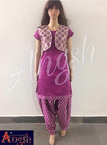#patiyala #kurta #jacket #brocade #punjabilook #trending #stylish  #angsh #jaipur #designer  Dm to order😊