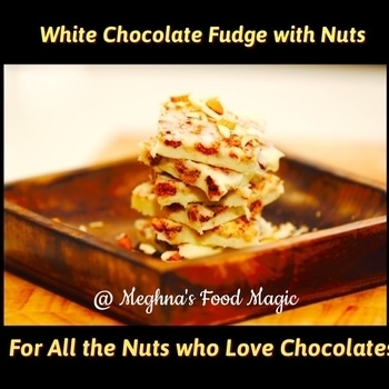 Look for this recipe video - White Chocolate Fudge - on my Facebook, YouTube page. 💋💋💋 Love M.  #chocolate #whitechocolate #chocoholic #chocolatefudge #chefmeghna