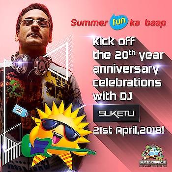 And looking forward to spinning for #Mumbai at #WaterKingdom 20th Anniversary celebration tomorrow #April 21st #2018... What better way to #BeatTheHeat.... #Bollywood #Remixes #MashUps #Dance #Music #WavePool #SummerFun #WaterPark