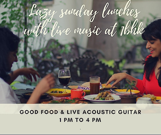 Enjoy a lazy Sunday lunch with live Music at my new restaurant 1bhk oshiwara Andheri West next to Meera tower 🤗  get the wintry outdoor lunch feel till the winters last ☺️ #1bhk #mumbai #andheriwest #oshiwara