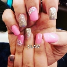 Pretty pink nails #nail art collection💅🏻#claw #nailsalon #delhi (Greater kailash1,amar colony, shahpurjat) #mumbai (Linking Road,Bandra) #merrut #happyclient #happyus #nailfashion #nailie #getclawed💅 For appointments in Delhi call on 9811197099 , 9278375598 ,  9871798965 , 011-41038464 WEBSITE : www.claw-nails.com