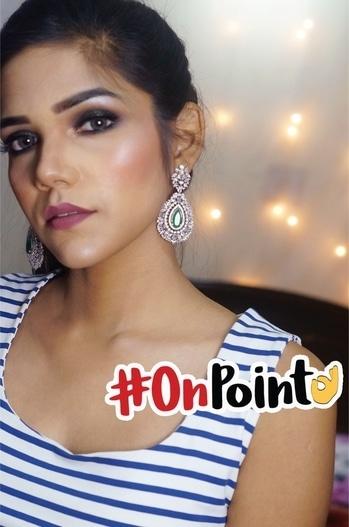 Highlighter on point ✨✨ #makeup #makeupjunkie #highlight #highlightonfleek #highlightonpoint #eyemakeup #smokeyeye #soroposo #roposolove #indianyoutuber #onpoint