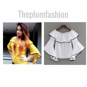 Women Bell sleeve tops!!  Free size  Colors available- black , yellow , blue , peach  Price- 580/- only #shoponline #shopoholic #onlineshopping #onlinestore #fashionpost #fashionlook #fashionstore #fashioninsta #clothesaddict #toplove #trendyfashion #styleaddict #clothingshop #fashiononlinestore