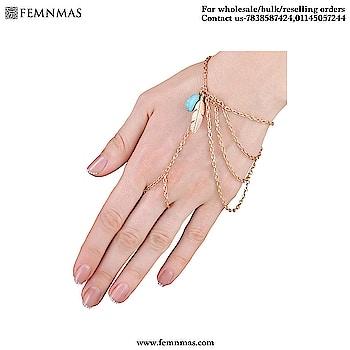 Leaf Ring Chain Hand Harness  ₹209  Shop Link-https://goo.gl/5Vt5TM  #bracelets #femnmasjewellery #partybracelets #handjewelry #accessories #goldenbracelet #reselling #bulkorders #wholeseller #onlineshopping #onlinestore #onlinejewellery