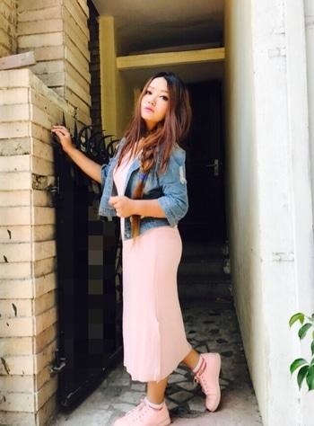 #denimjacket #sidebraids #pinklove #pinkdress #pinkshoes #longhair #be-fashionable #fashion-diva #followmeoninstagram #followformoreupdates #roposogal 👑👑