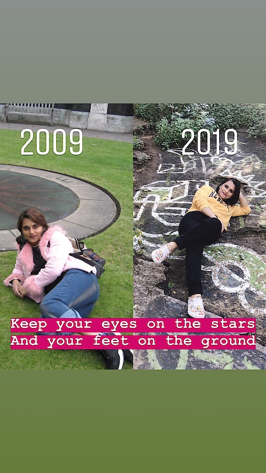 """2009 v/s 2019 Theodore Roosevelt once said """" keep your eyes on the stars, and your feet on the ground ."""" In other words, always aspire for more, but never loose track of who you are throughout your journey.  #10yearchallenge #throwback #timeschange #ididntchange #dreamsdidntchange #hardworkpaid #achievements #accomplishments #success #beautifullife"""