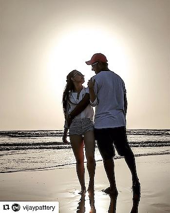 #repost  @vijaypattery ・・・ Woman, You are Magic !!! Thank you for everything ❤️ @proneetaswargiary  #proneetavijay #magicwoman #positivevibes #loveher #beach #moments #roposolove _______________________________ #love 😍 my #nachbaliye