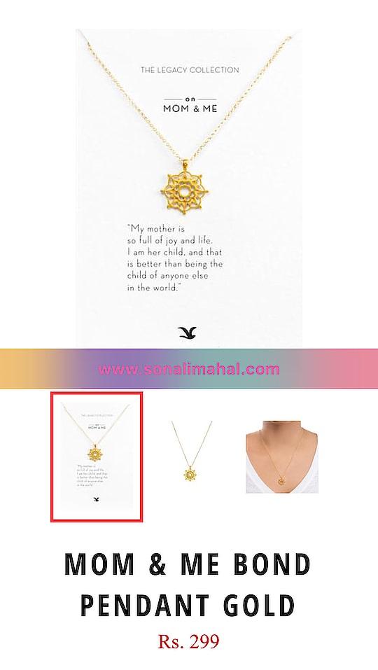 Sonali Mahala Couture Amazing new product  Buy Now Mom & Me Bond Pendant Gold, 299 INR: https://goo.gl/yuDjfM