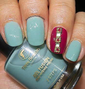 Accent Nail Art😍😍😍  #designyournailsbyisha #ishanailart #nails #nailart #nailartdesign #naildesign #accentnailart #nailsofig #nailsoolala #fashionnails #nailartaccesories #nailartstones #nailartwow #nailpromote #nailsbyme #nailartaddict #gelfinishnails @design_your_nails_by_isha💖