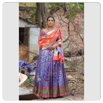 A blast from our  #orbofnight collection ! #archithanarayanamofficial #bridalcouture #lehengas #embellished #intricate #workmanship #weddings #happybrides #bridestobe #indianfashion #granduer #bridalfashion #bigfatindianweddings #bridalinspiration #elegance #standout #drape #it #your #way #stylish #hyderabad #designer #handcrafted #stay #tuned #for #more #fashion #love