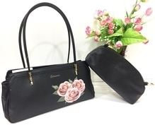 Dr Edmoda imp . Flowers Bags. Leather Look material. Size...14 by 7 . Price...1350/-+$