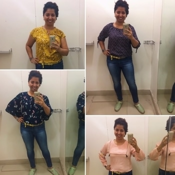 Yesterday I paid a visit to a local mall housing a Reliance Trends store. Having never shopped here before, I was curious about their collection. I decided to look at the tops they offered. Featured here are my 4 casual tops picks which can be paired with Jeans for the summer. 4 different sleeves, cap sleeves, 3/4 sleeves, long sleeves, and bell sleeves. Take your pick!! Plus the price is just fabulous! All of them were under INR 800 !! So if you want to pick up casual stuff which won't pinch your pocket, go have a look 🙋🏻 #styledbyenso #sbepicks #tops #casualwear #summerstyle #summertime #jeans #sleeves #reliance #reliancetrends #personalstyle #personalstylist #wardrobestylist #stylegram #styletips #styleinspo #styleinspiration #whatiwore #ootd #lotd #lookbook #shorthairdontcare #pixie #bloggerlife #indiansummer #indianblogger #lifestyleblogger #mumbaifashion #indianfashionblogger #indianfashion #roposo-makeupandfashiondiaries #women-fashion #fashion #streetstyle