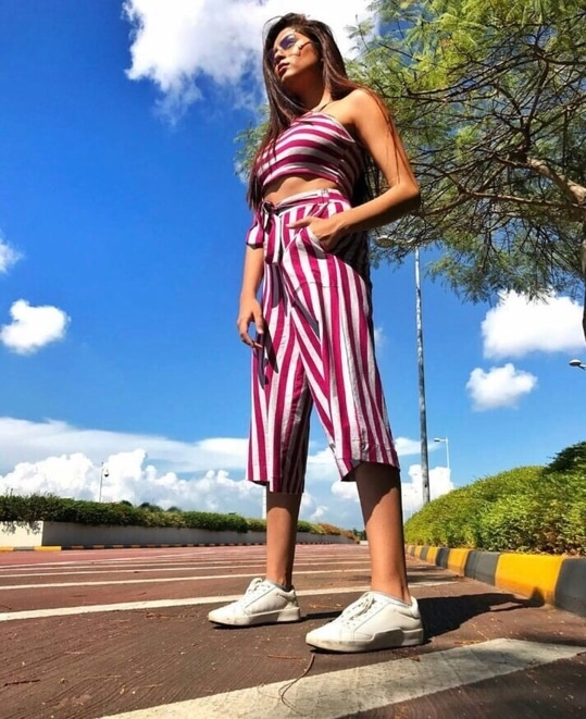 The latest ongoing trend is the same patterned trousers and top.This is perfect for indian weather and a casual outing #hashtaggameon #collaboration #stripes #latesttrends #summer-style #comfortable #be-fashionable #blogger #fashion bloggers #beattheheat