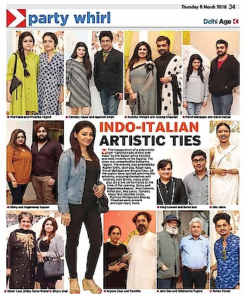 #repost  @havishaaglobal  Our Founder Tanveey Kapur in Today's Asian Age Newspaper at the Solo Show Presented by Art Konsult | Tarshito Falls In Love With India   #art #artist #luxury #luxurylifestyle #luxuryhomes #promoter #theasianage #media #news #tanveeykapur #artkonsult #tarshito #love #india #artshow #delhi #delhigram #artgram #newspaper #havishaaglobal