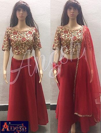 #skirt #umbrella #croptop #fullwork #boatneck #dupatta #trending #designer #angsh #jaipur #party #traditional #stylish  Dm to order😊