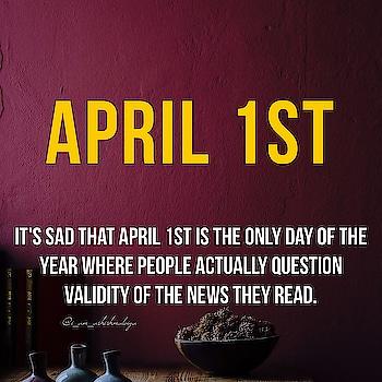 Stop being a fool for other 364. . . . . #aprilfools #1stapril #april #foolsday #news #internet #sarcasm #sarcasmquotes #intelligence #fool #logic #iq #commonsense #mindset #fakenews #fud #breakingnews #justin #hotnews #bulletin #reporter #internetnews #entrepreneur #success #millionaire #billionaire #kindness #india