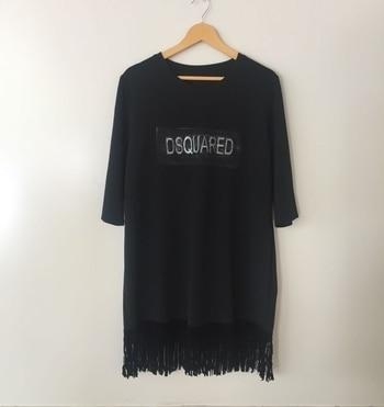 "T-shirt dress Free size Size L-XXl Length-35"" Loose fit ₹1050+shipping Dm or whatsapp 9920020908 #fashiondiaries #fashionista #style #styleblogger #lifestyle #ootd #instadaily #instastore #fashionable #fashionblogger #cute #summerwear #mumbai #adderyfashionhouse #keepadding #dresses"