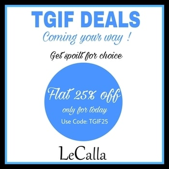 Thank god it's Friday.  Get FLAT 25% off, only for today! Use code: TGIF25  Welcome some extra happiness till 12 Midnight: www.lecalla.in #onlineshopping #photooftheday #offerprice #bestoffer #tgif #fridayoffer #shopnow #instalove #instagood #instajewellery #deals #newin #explore #musthaves #classy #customized #personalizedgifts #evagreen #exclusive #trendy #unique #ordernow😍 #shopnow #roposolove #roposo-style