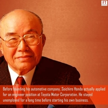 Doubtful about whether you will make it? Are you wondering how your startup will make a great impact on the world? Worry not! Take inspiration from the successful leaders of the business world who had very humble beginnings!  #facts #thursdaymotivation #thursdaythoughts #inspire #perseverance #rejection #motivation #business #entrepreneurship #soichirohonda #honda #toyota #positivequotes #foodforthought #lifelessons #like #flairtales #instafacts #didyouknow #success #wisdom #company