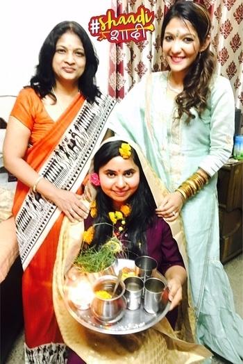 """Wedding bells - """"Ashidha"""" ( Ashish weds Vasudha) wedding diaries.  Day 1 - Havan at home. #shaadishaadi"""