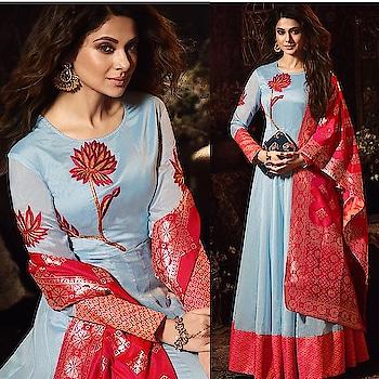 Jennifer Winget  Red And Blue Chanderi Silk Anarkali Suit  Product code - FCSS1414 Available at www.fashionclozet.com  Watsapp - +91 9930777376 Email -  info@fashionclozet.com  #anarkali #anarkalisuit #fashionstylist #asianbride #asianwomen #asianfashion #bollywoodfashion #pakistanibride #sikhbride #punjabibride #hindubride #asianwedding #indianwedding #sikhwedding #bridemaids #saree #sari #jenniferwinget  #bridal #spring #sale #lehenga #indiancouture #southindianbride #southindianwedding #punjabifashion #fashionista #indianculture #india